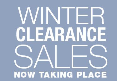 February is the Biggest Winter Clearance Month!